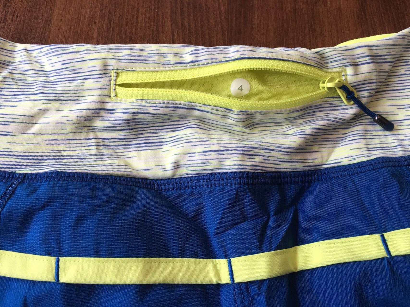 Lululemon Speed Short - Clarity Yellow / Limitless Blue