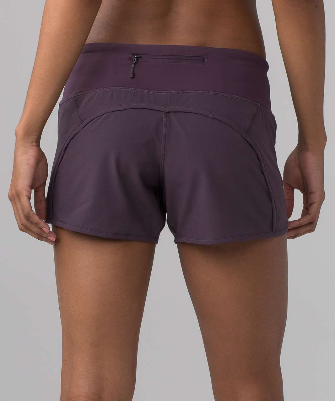 "Lululemon Run Times Short (4-way Stretch 4"") - Black Currant"