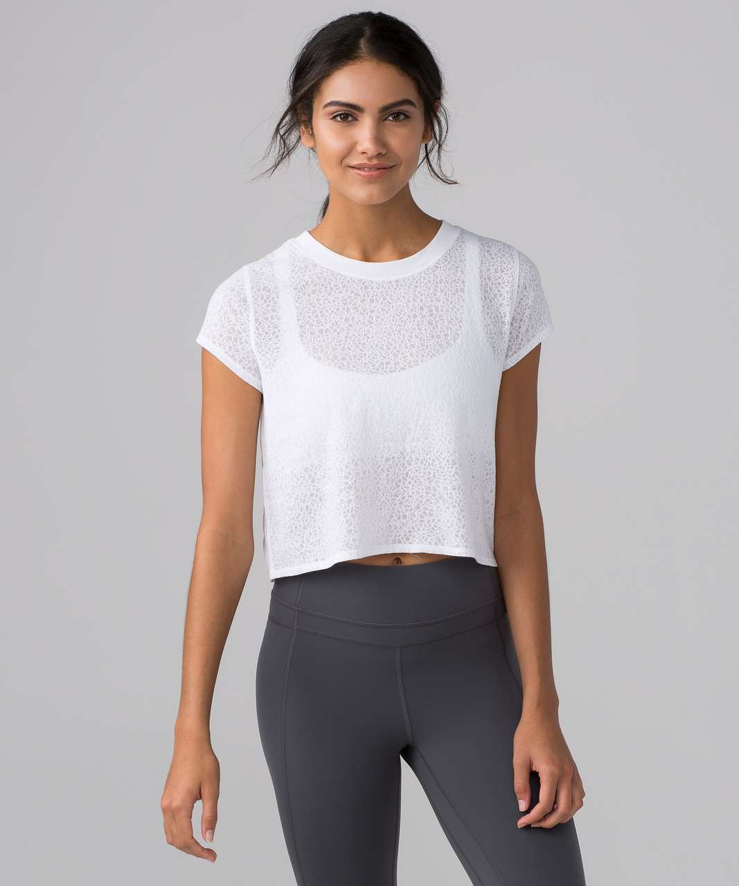 Lululemon Hint of Sheer Tee - White - lulu fanatics