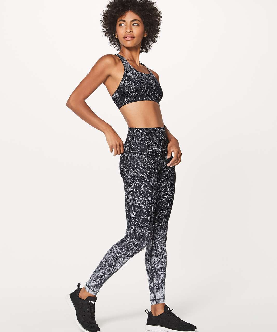 "Lululemon Wunder Under Hi-Rise Tight (Nulux 28"") - Alouette Wunder Under Pant Hi-rise 50g Alpine White Black"
