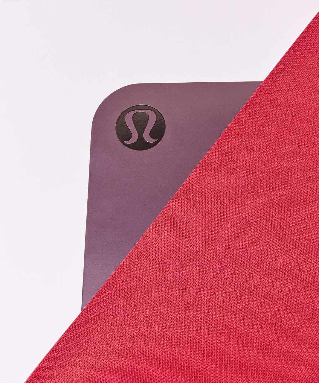 Lululemon The Reversible Mat 3mm Dark Adobe Ruby Red