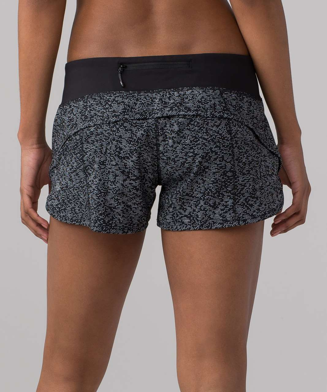 "Lululemon Speed Short (2.5"") - Soundwave White Black / Black"
