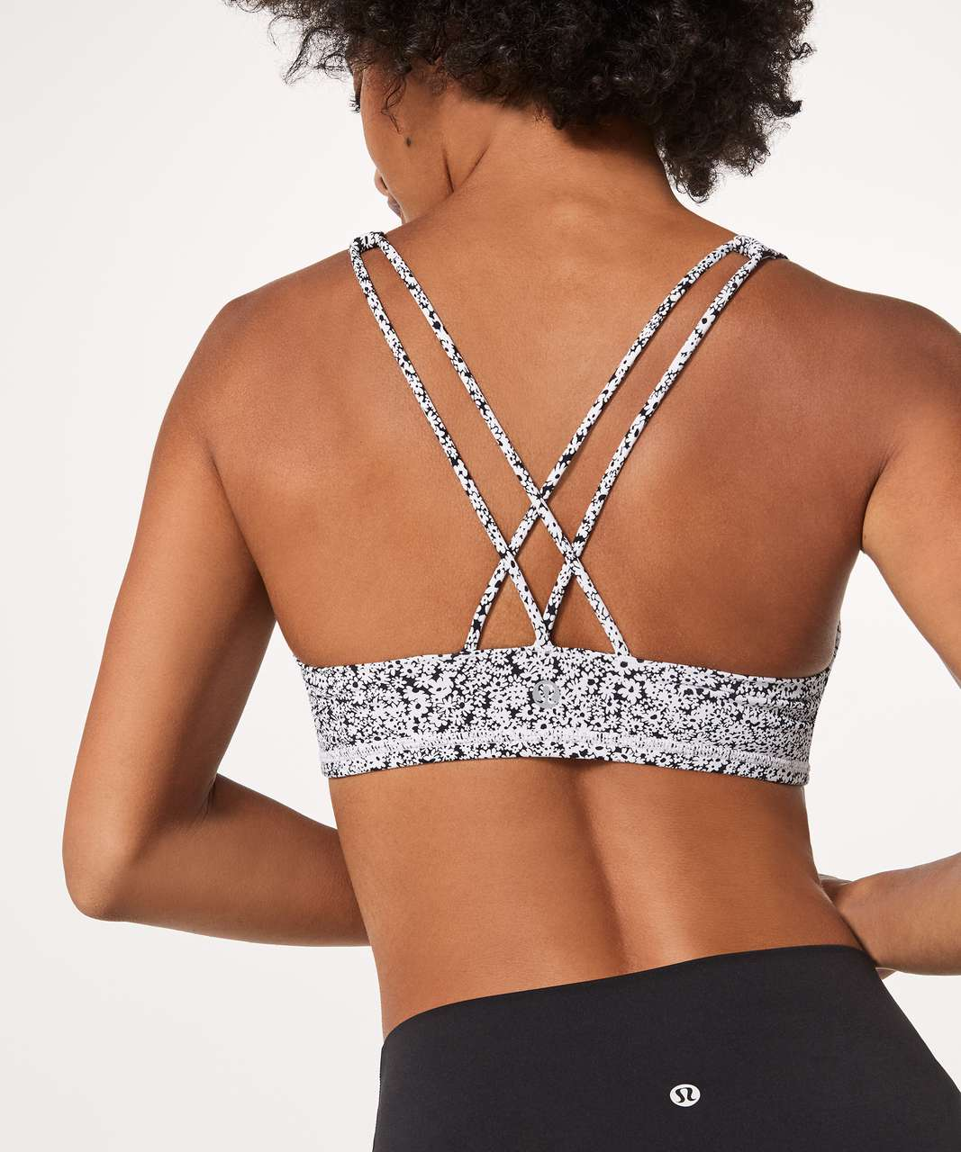 Lululemon Free To Be Bra - Ditsy Daisy White Black