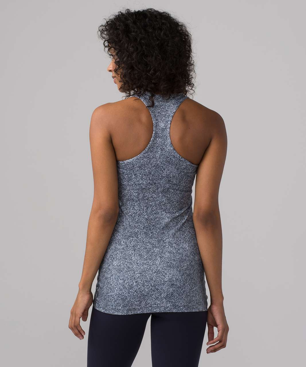 Lululemon Cool Racerback - Rio Mist White Black
