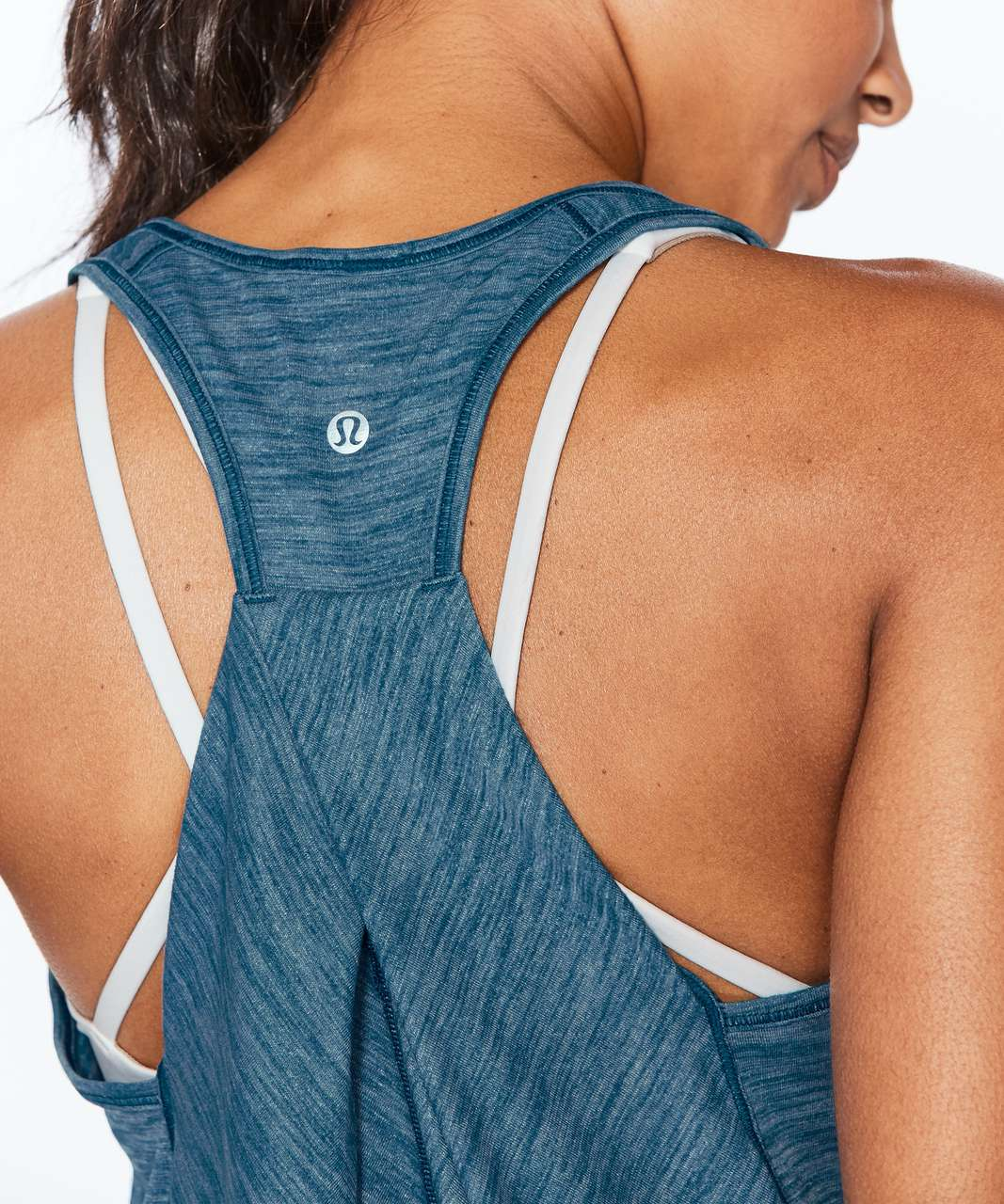 Lululemon Essential Tank - Heathered Whirlpool
