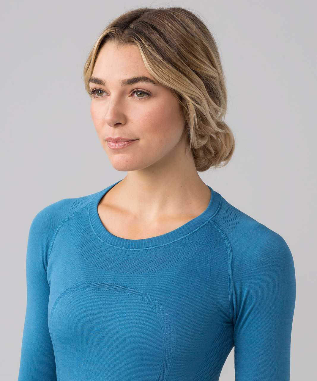Lululemon Swiftly Tech Long Sleeve Crew - Pewter Blue / Pewter Blue