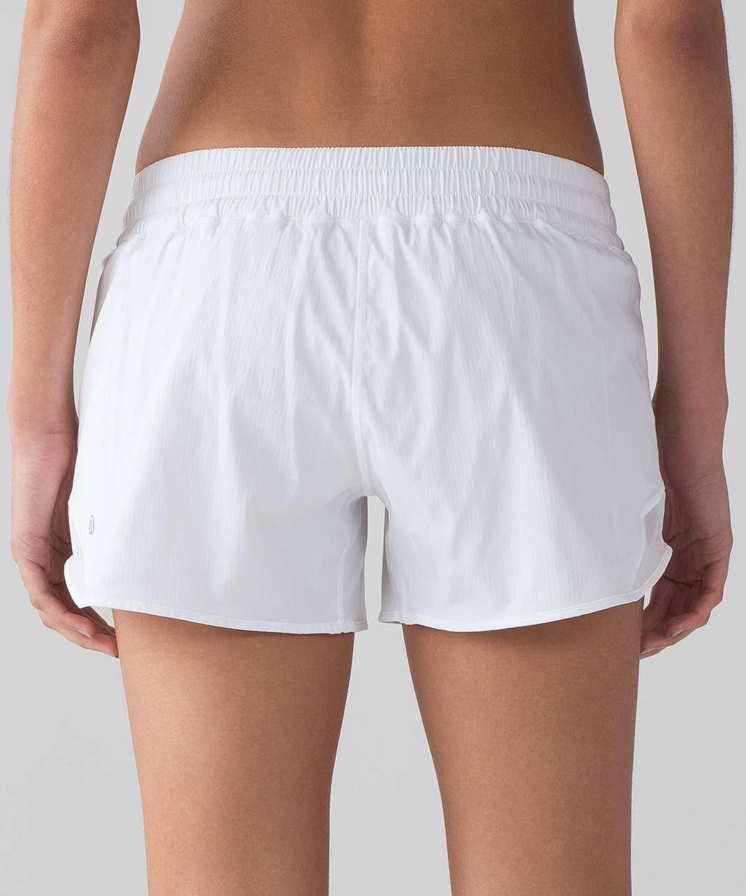 "Lululemon Hotty Hot Short II (Long 4"") - White / Barely Beige"