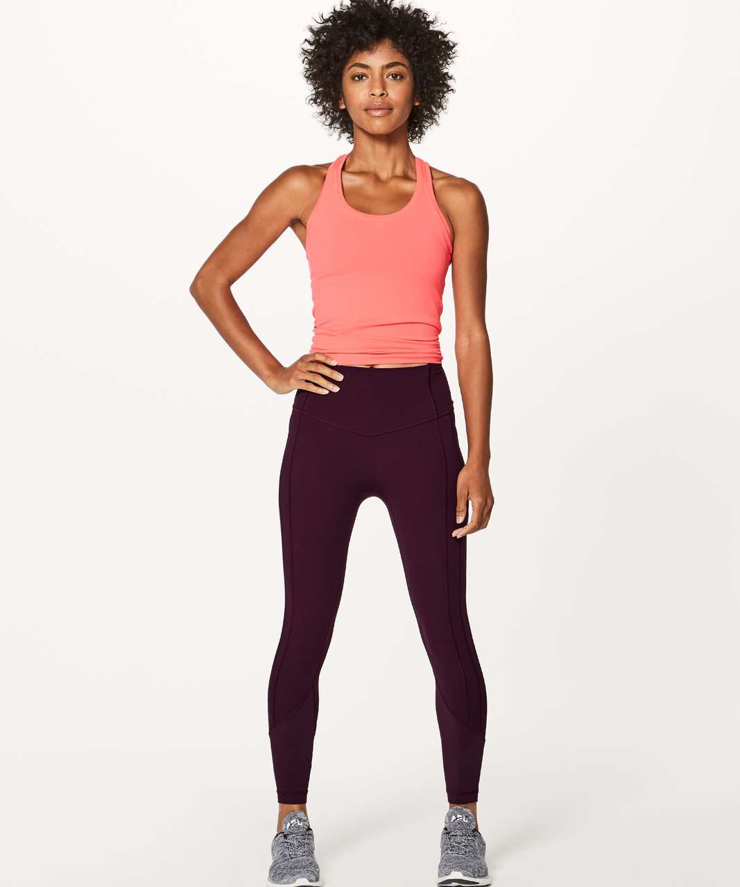 """Lululemon All The Right Places Crop II (Online Only 23"""") - Dark Adobe"""