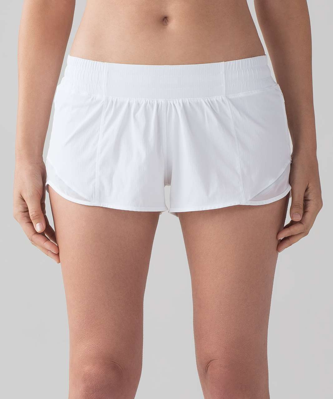 "Lululemon Hotty Hot Short II *2.5"" - White / Barely Beige"