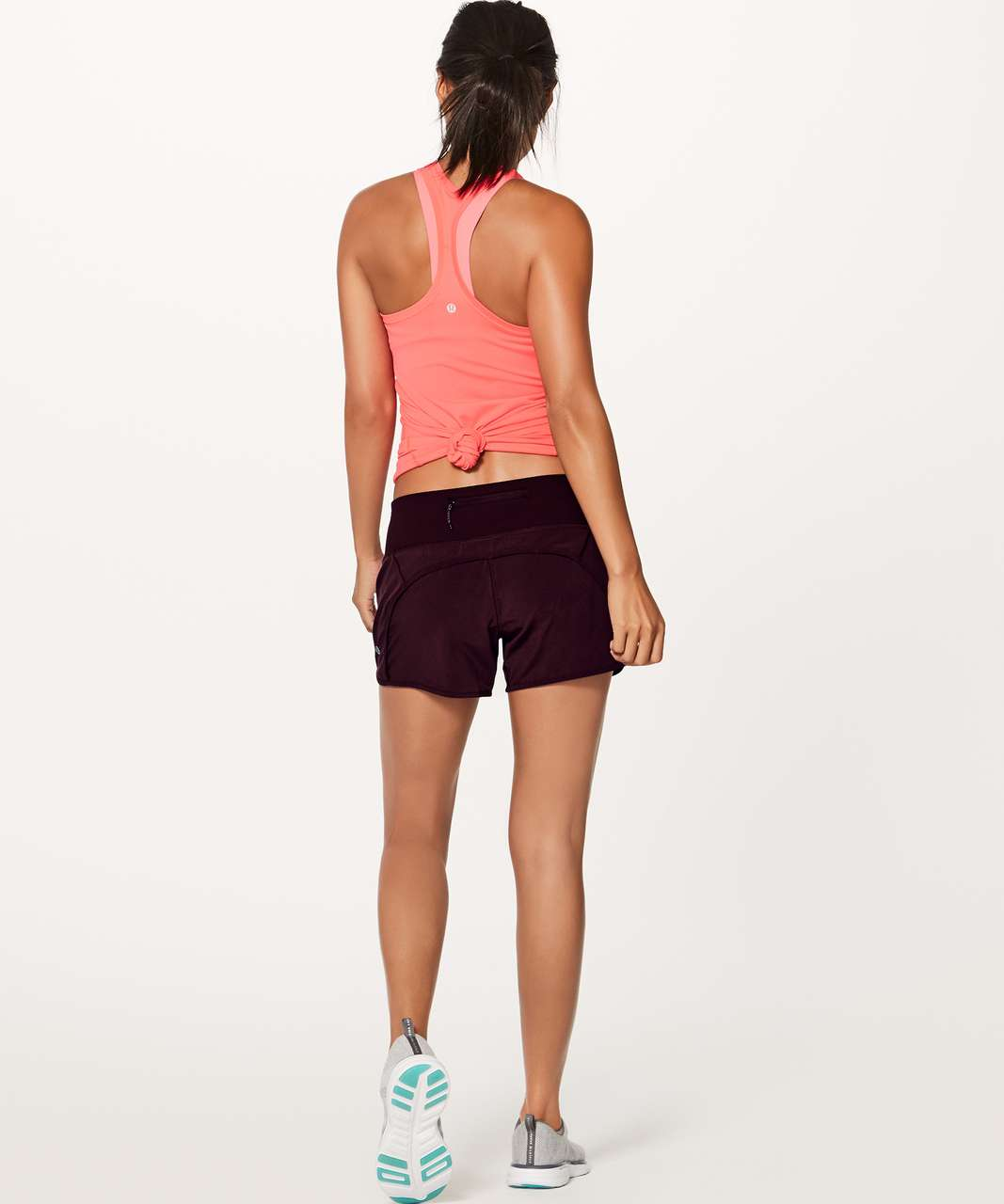 "Lululemon Run Times Short (4-way Stretch 4"") - Dark Adobe"