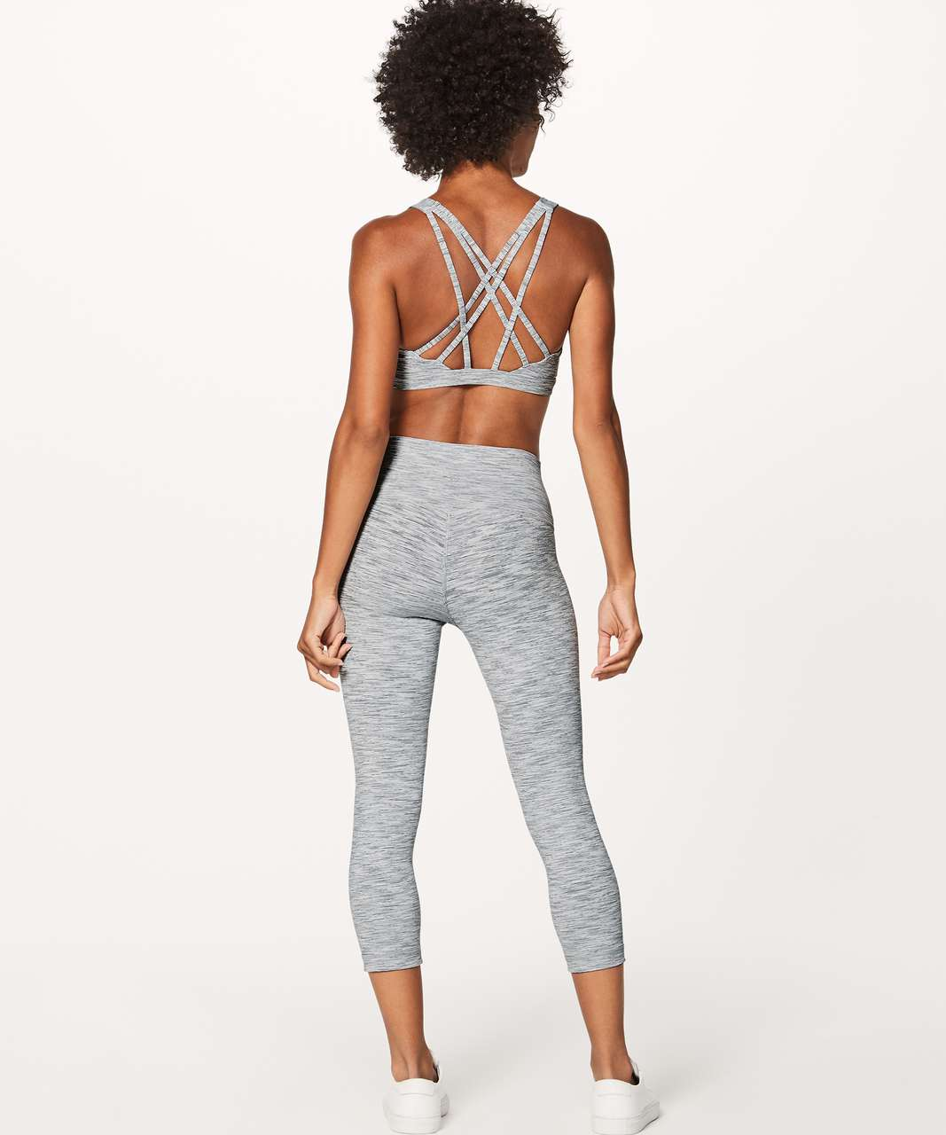 Lululemon Wunder Under Crop (Hi-Rise) (Luxtreme) - Wee Are From Space Ice Grey Alpine White