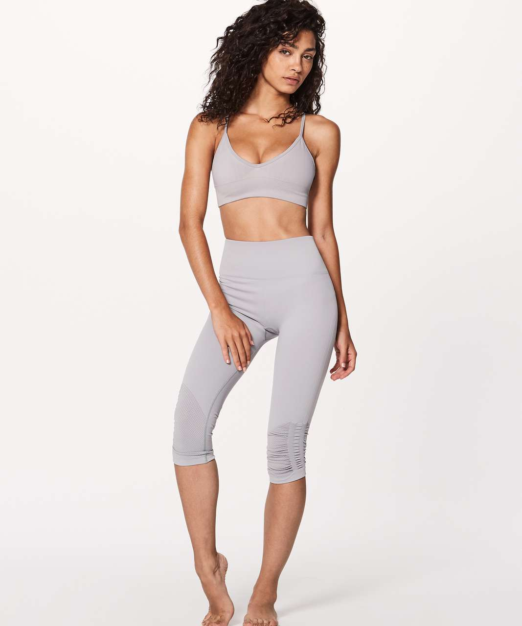 Lululemon Awakening Bra Taryn Toomey Collection Chrome