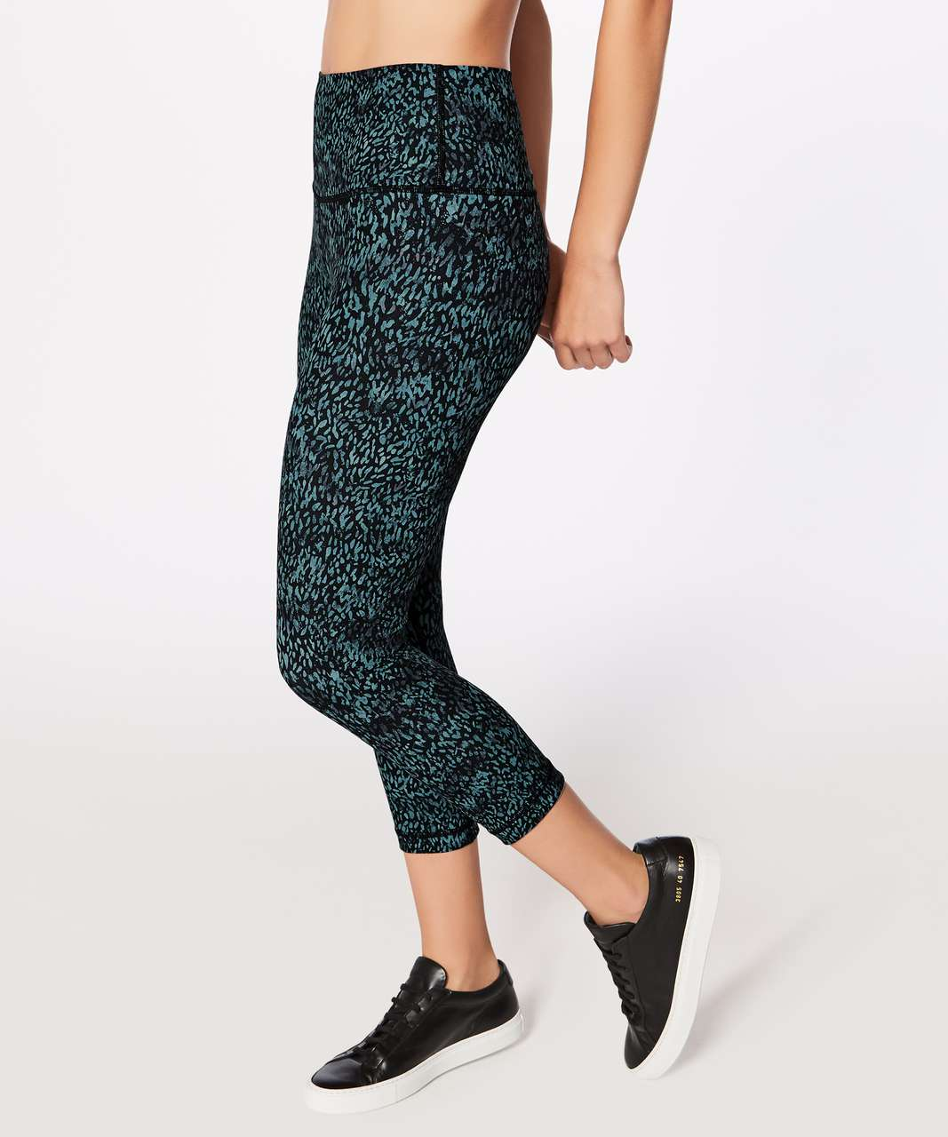 "Lululemon Wunder Under Crop (Hi-Rise) (Full-On Luxtreme 21"") - Illuminate Multi Black"