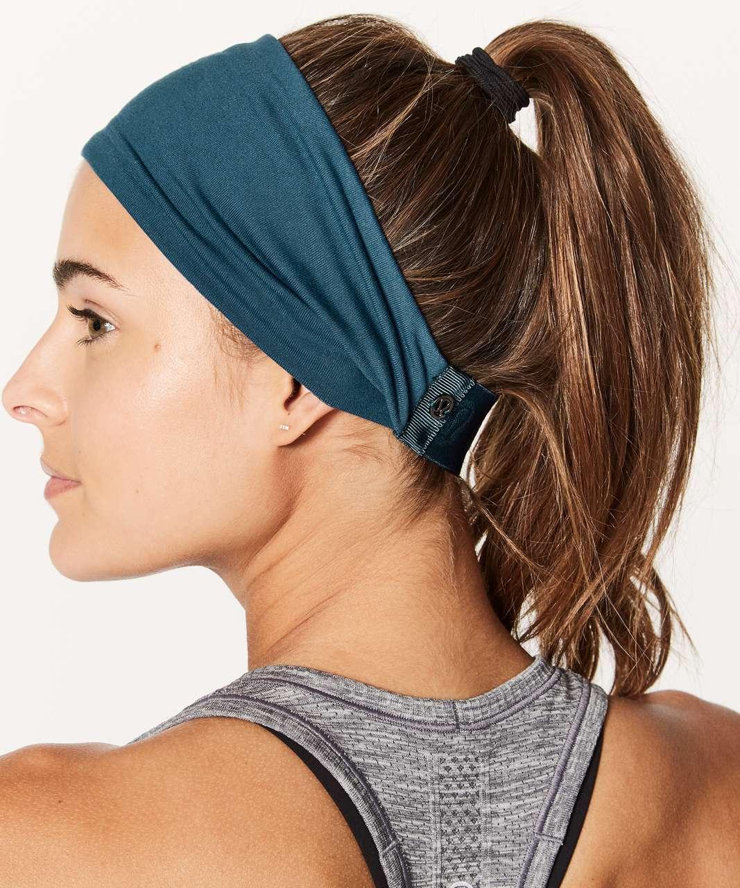 Lululemon Fringe Fighter Headband - Nile Blue / Heathered Nile Blue