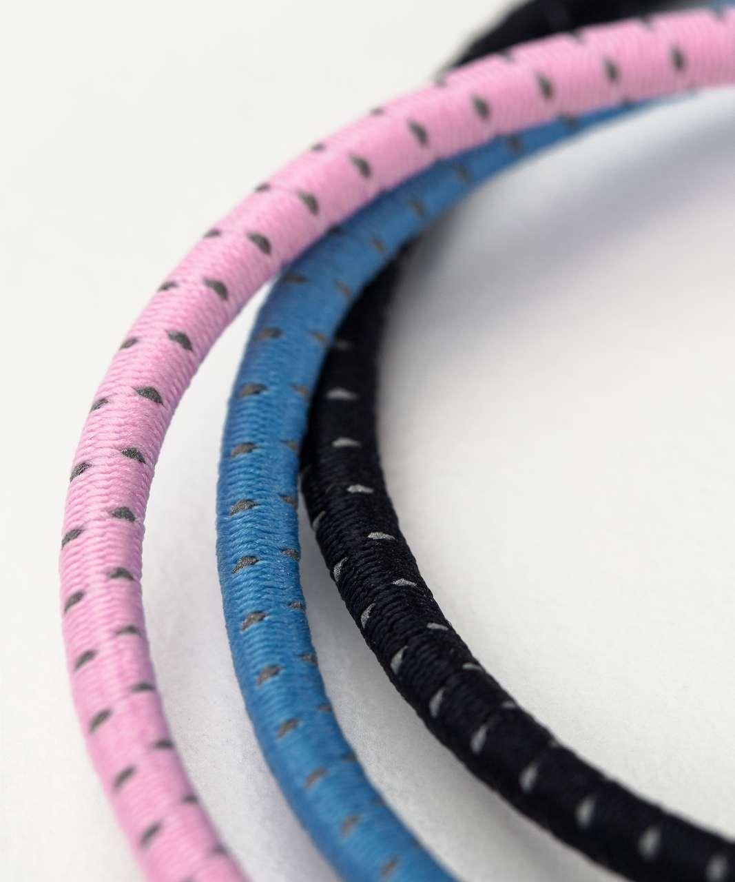 Lululemon Glow On Hair Ties - Midnight Navy / Cherry Blossom Pink / Aero Blue