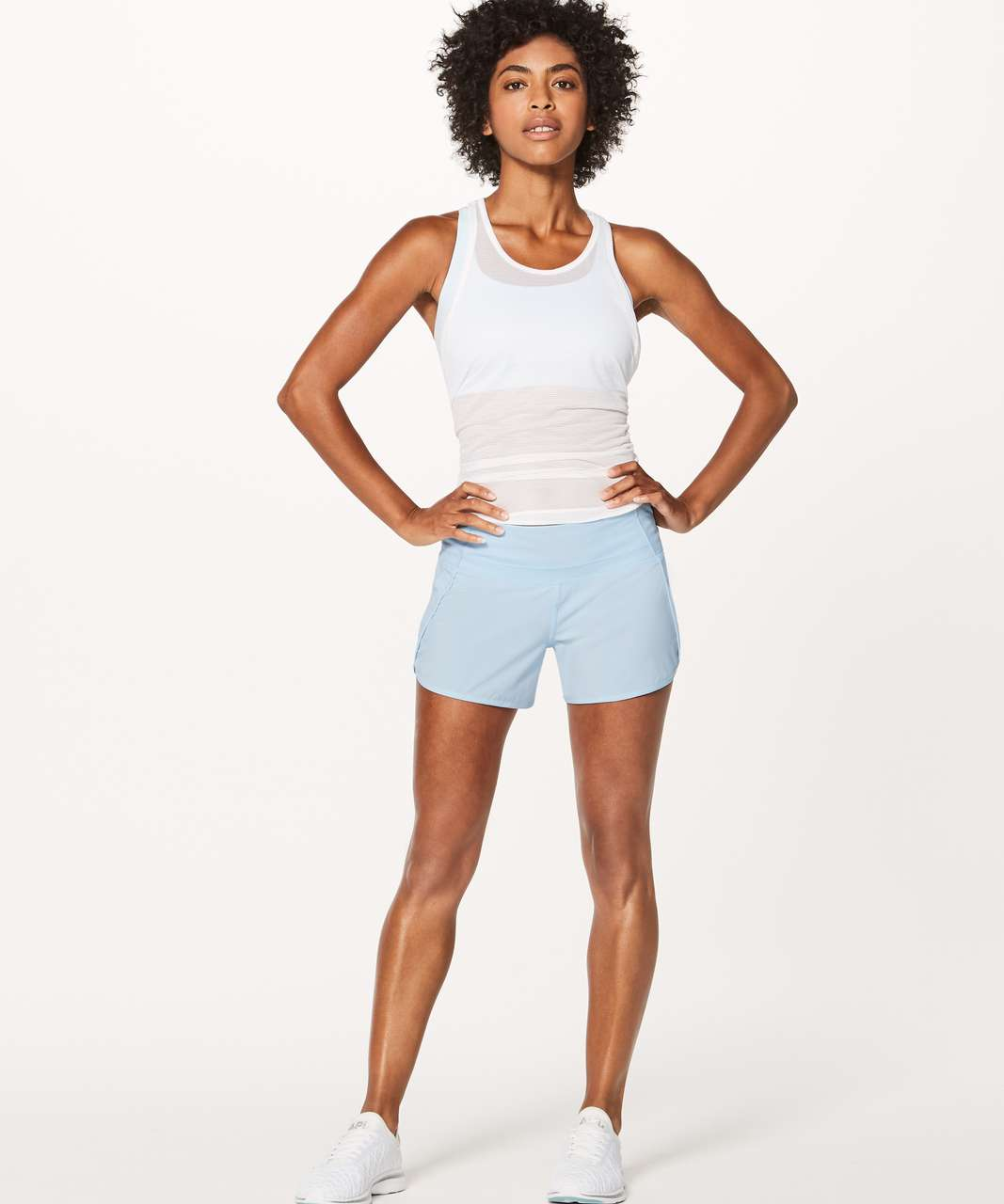 "Lululemon Run Times Short (4-way Stretch 4"") - Ice Milk"