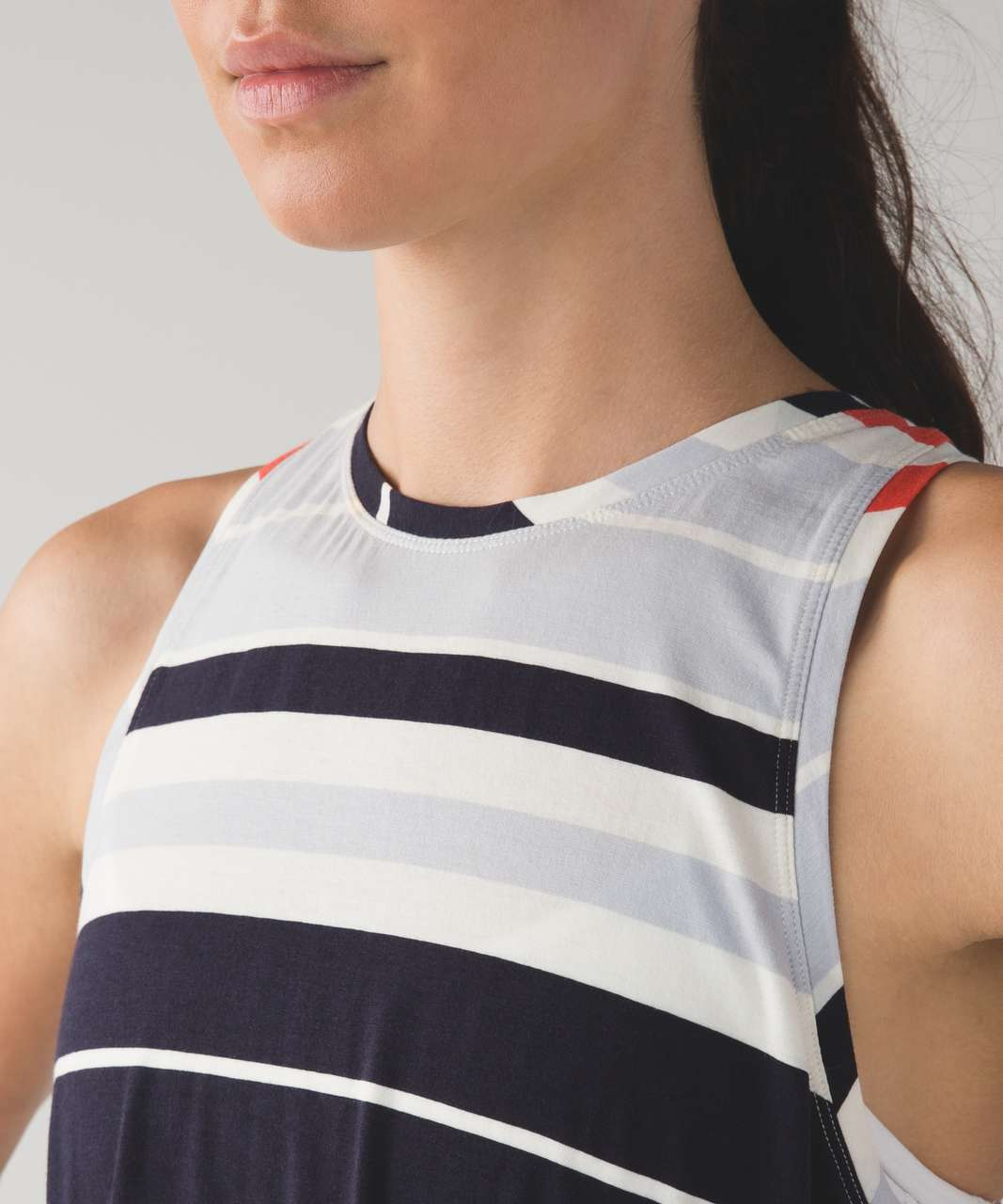 Lululemon All Tied Up Tank - Beach Blanket Stripe Alarming Naval Blue