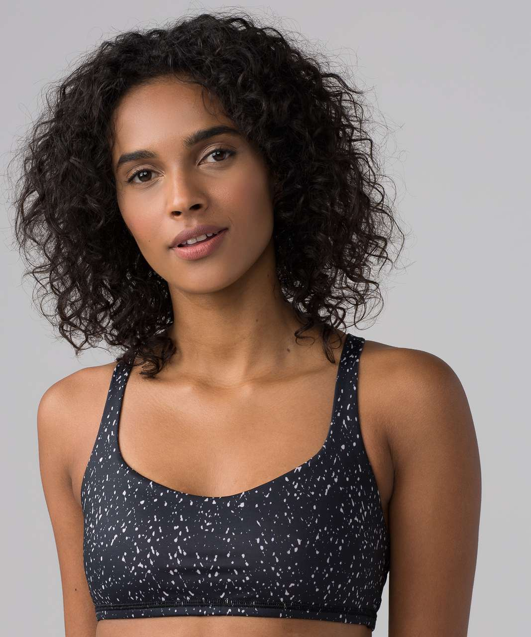 Lululemon Free To Be Bra - Butterfly Texture Mink Berry Black
