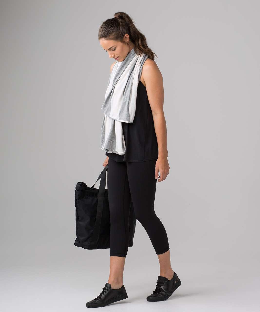 Lululemon Sage Scarf (Cotton) - Bold Stripe Heathered Medium Grey Heathered Angel White