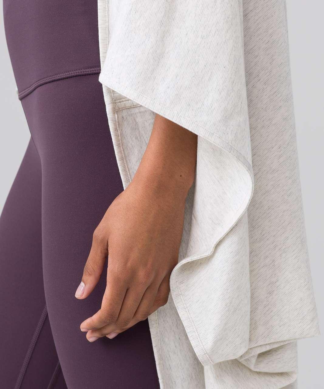 Lululemon Sage Scarf (Cotton) - Wee Stripe Heathered Light Grey White