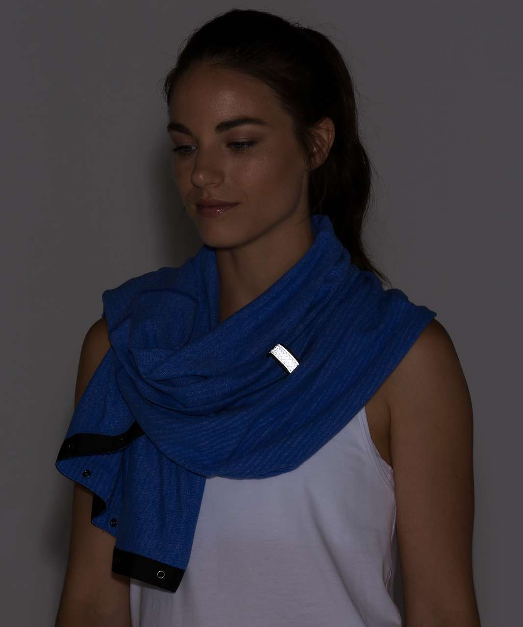 Lululemon Vinyasa Scarf (Rulu) - Mini Check Pique Sprinkler Heathered Sprinkler