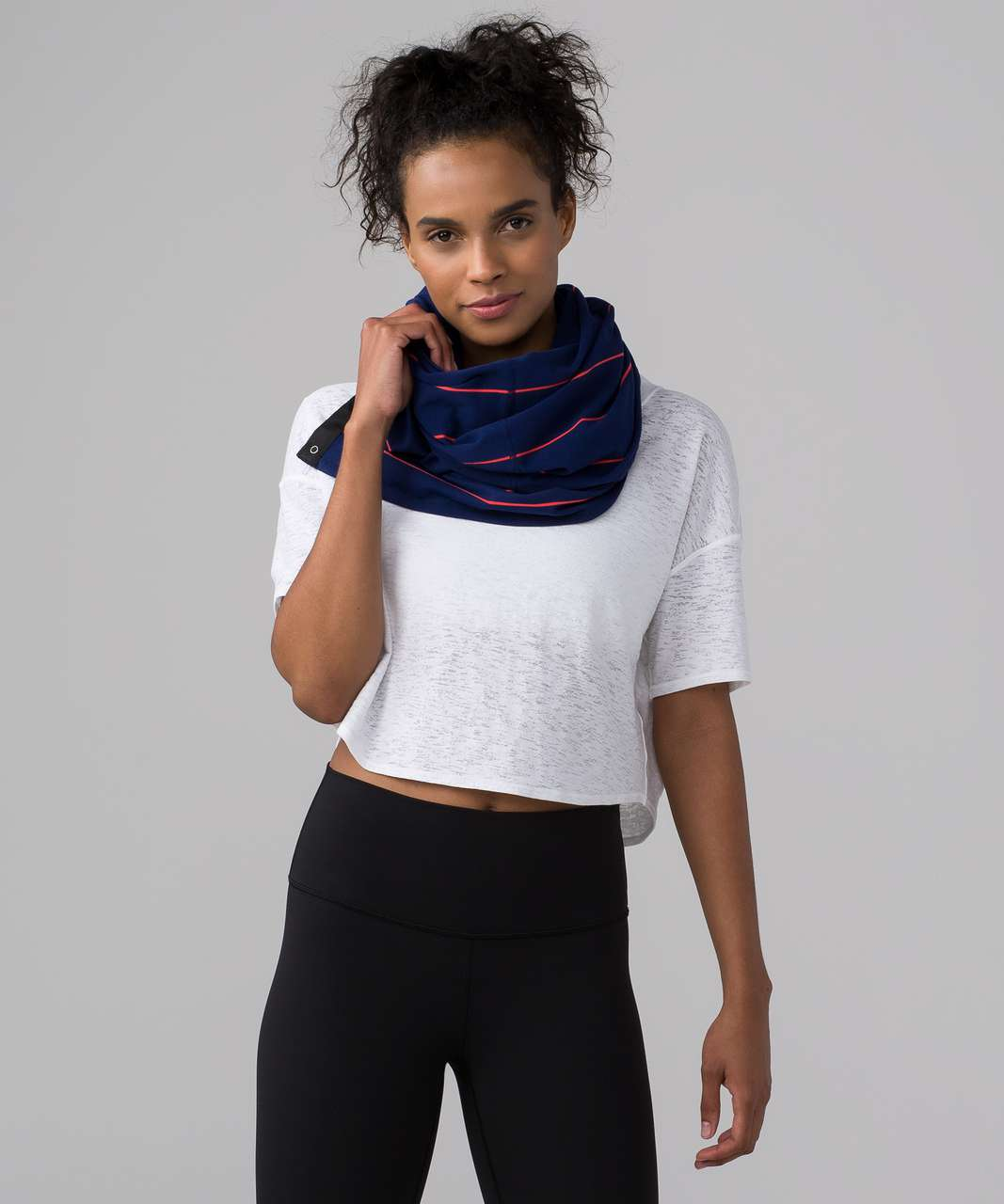 Lululemon Vinyasa Scarf (Rulu) - Sailor Stripe Hero Blue Alarming