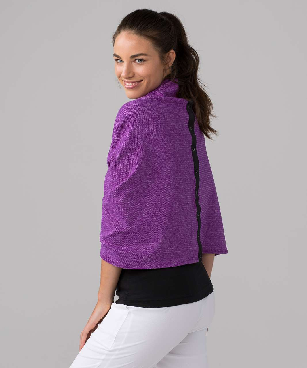 Lululemon Vinyasa Scarf (Rulu) - Mini Check Pique Tender Violet Heathered Tender Violet
