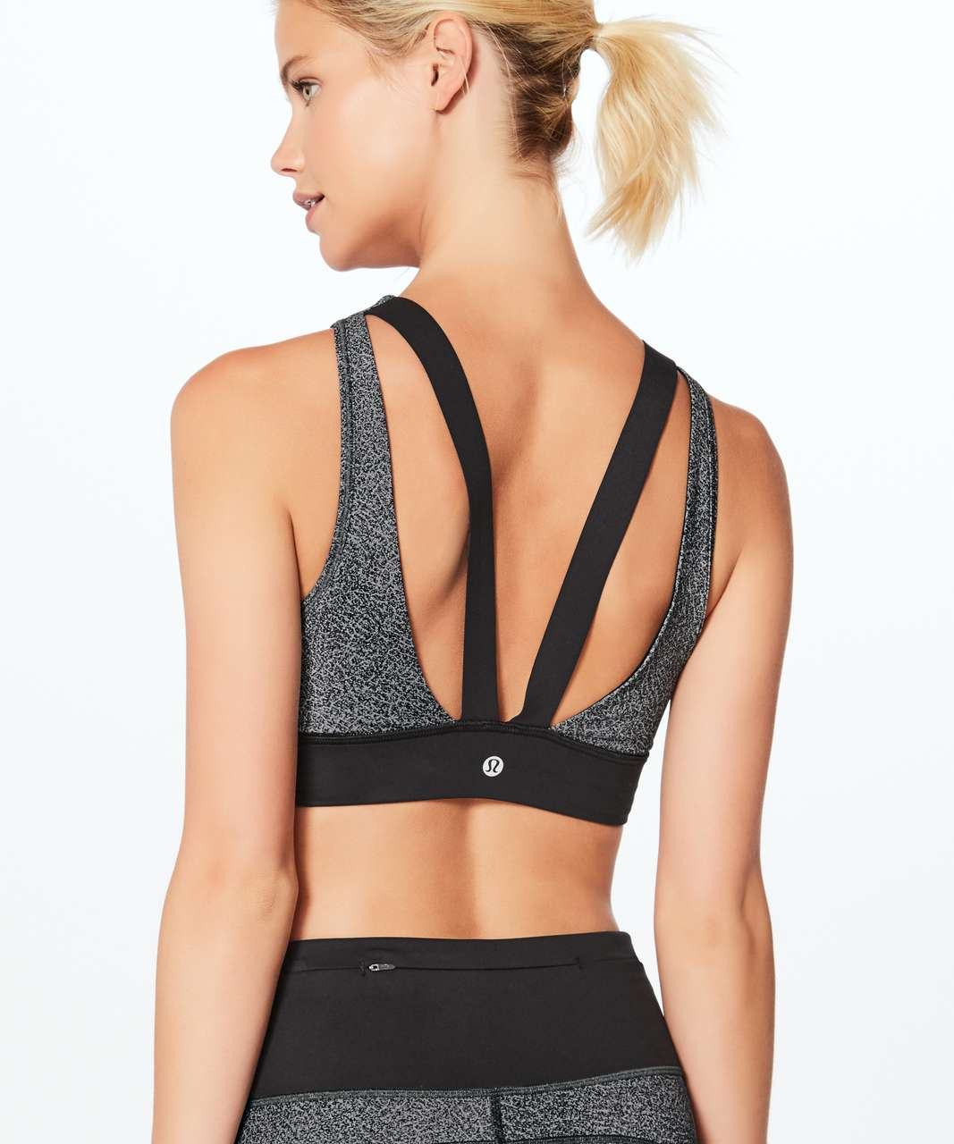 5b4f0b9658 Lululemon Run The Day Bra - Fractal Dark Starlight Black   Black - lulu  fanatics