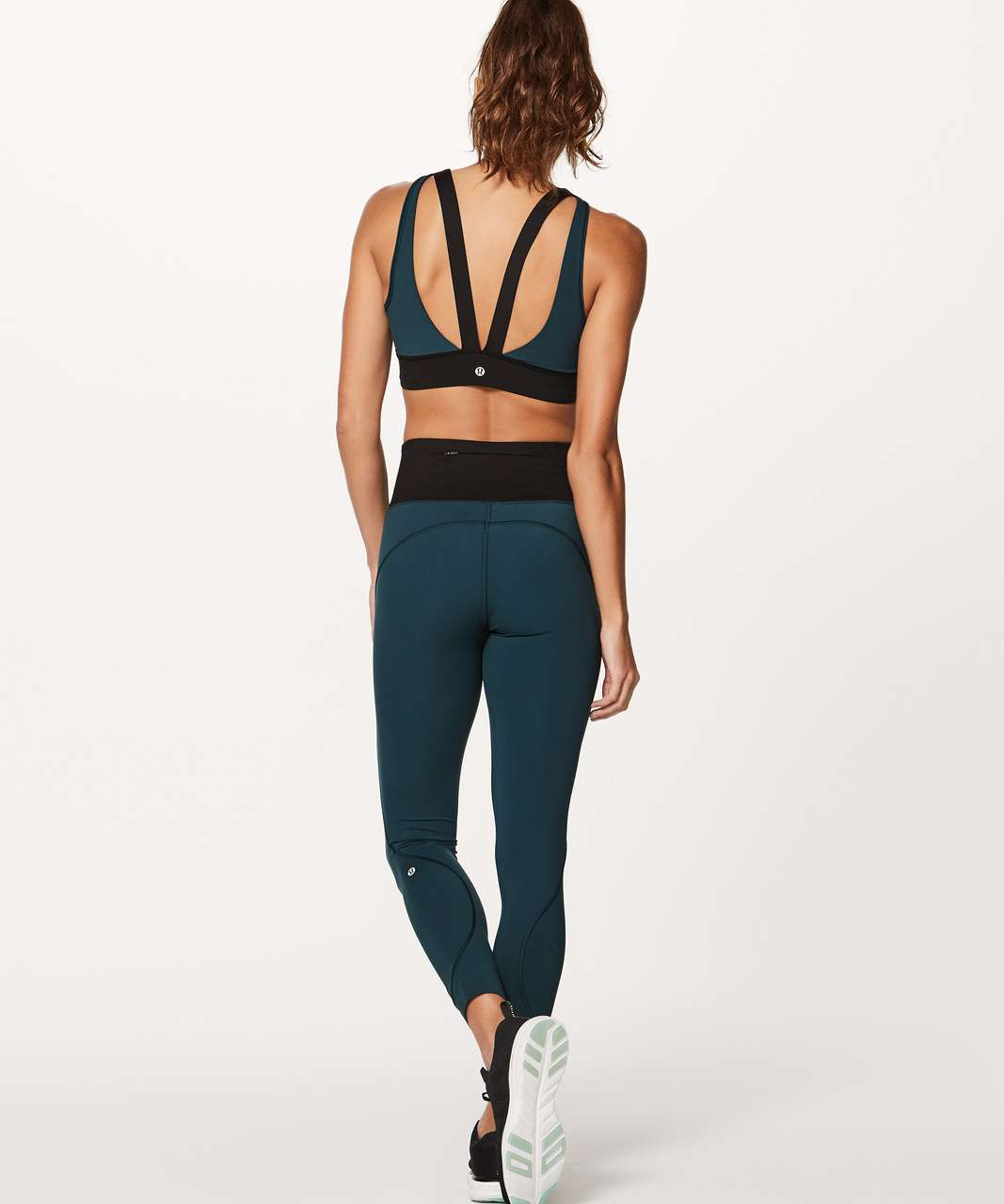 Lululemon Run The Day Bra - Submarine / Black