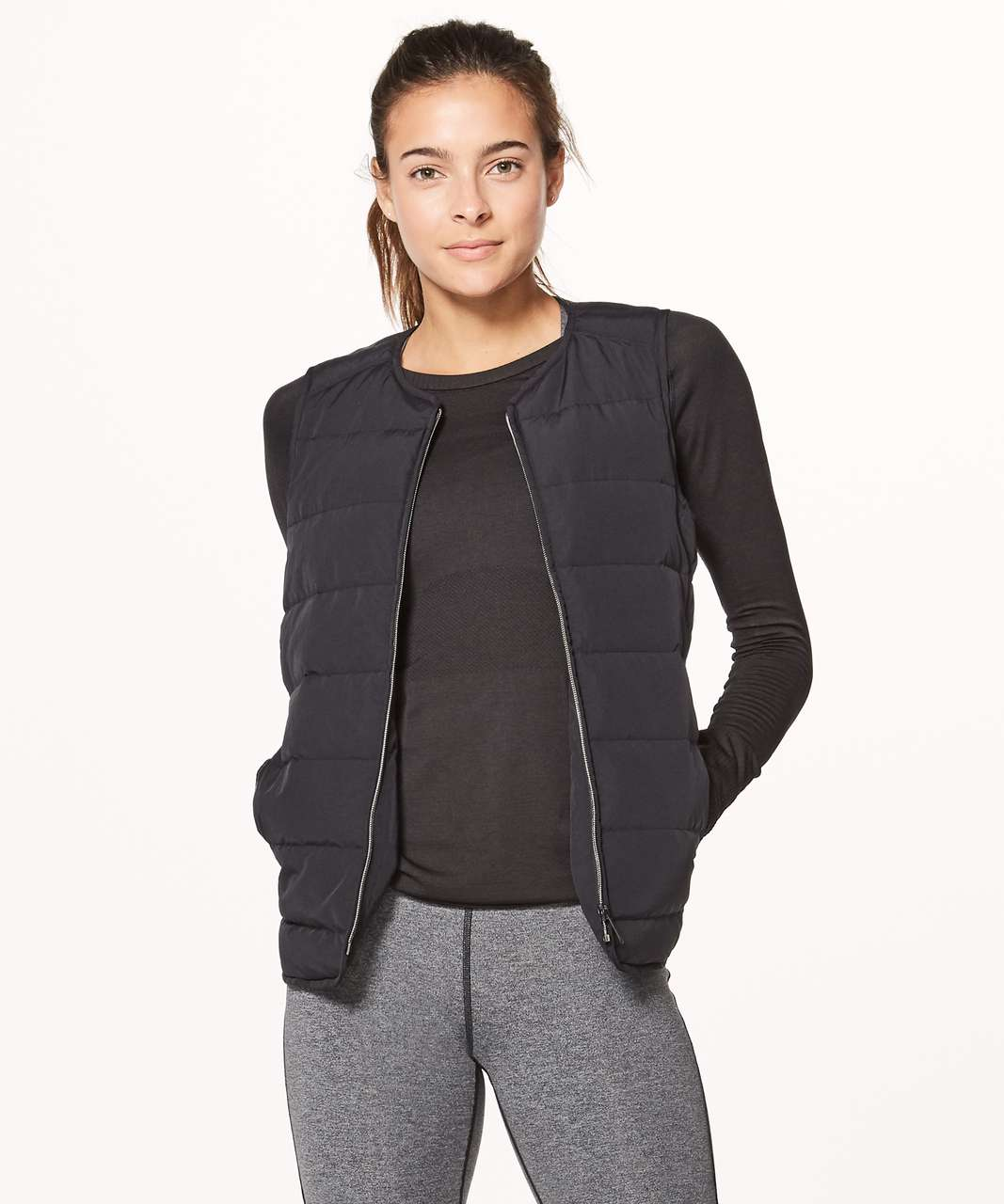 Lululemon Just Enough Puff Vest Black Lulu Fanatics