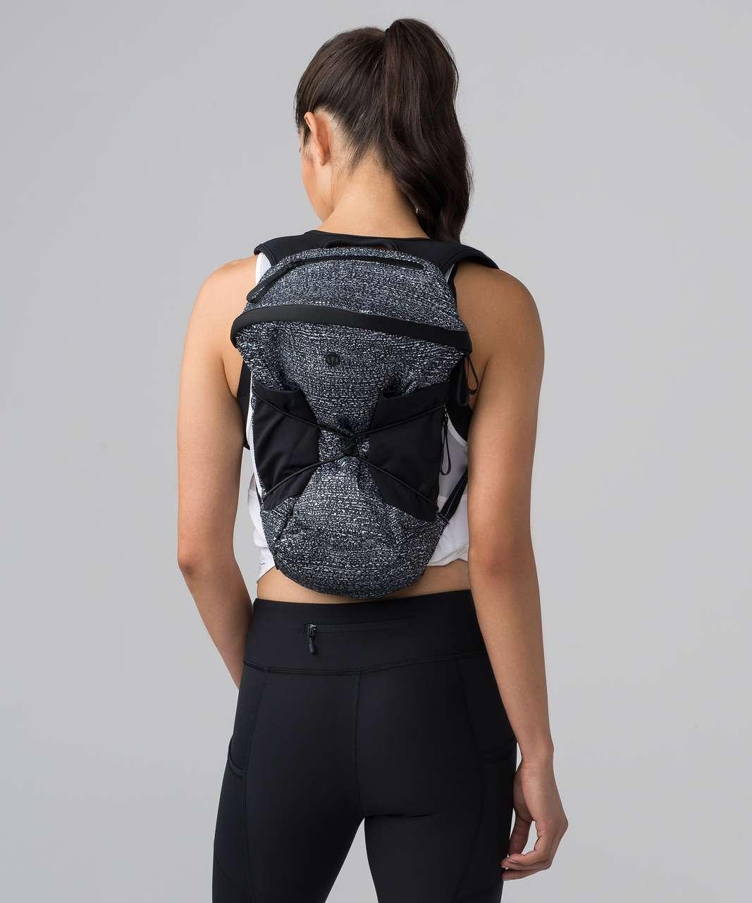 Lululemon Run All Day Backpack II *13L - Maxi Salt Alpine White Black