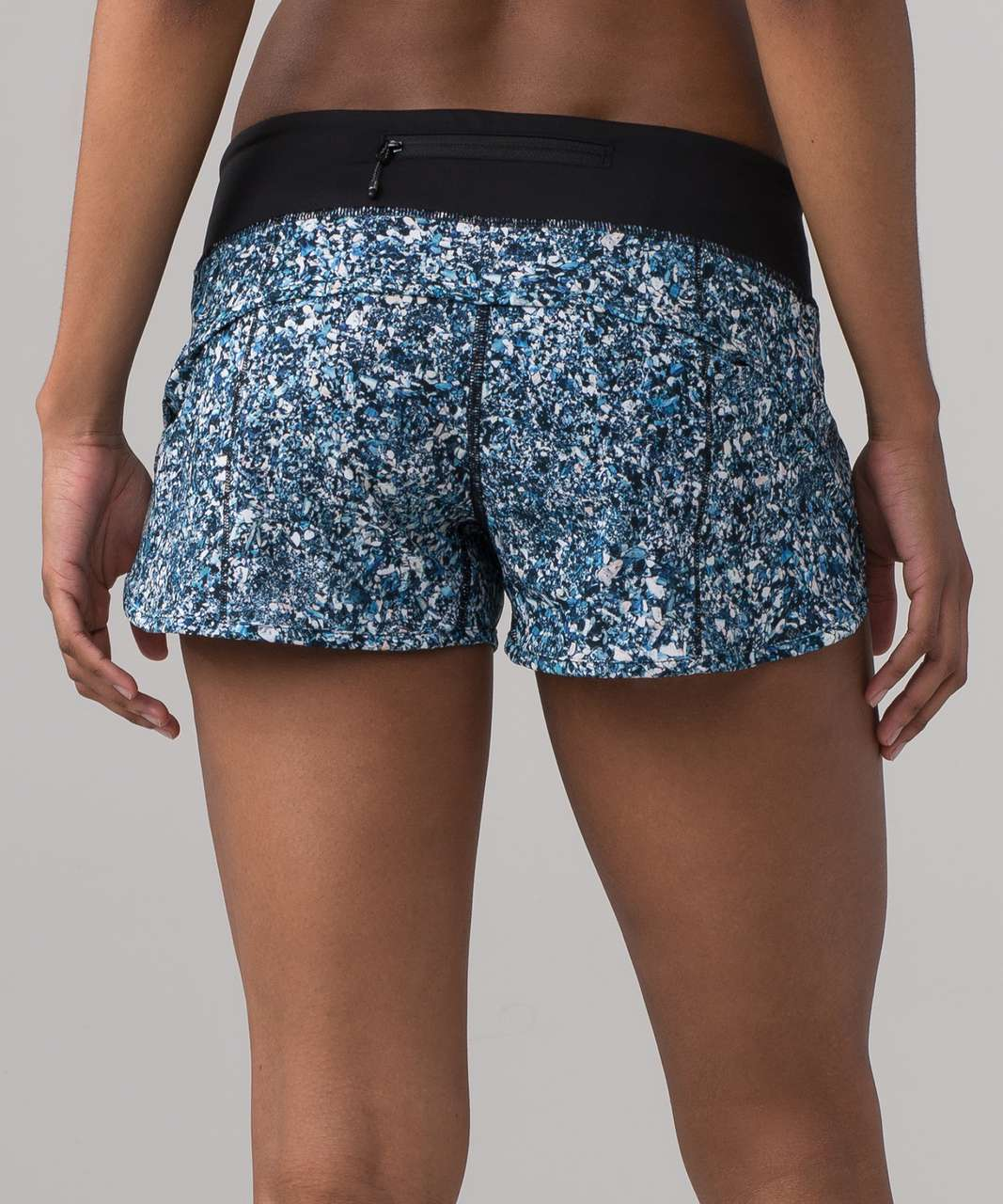 Lululemon Speed Short (SeaWheeze) - Tofino Shells Multi Black / Black