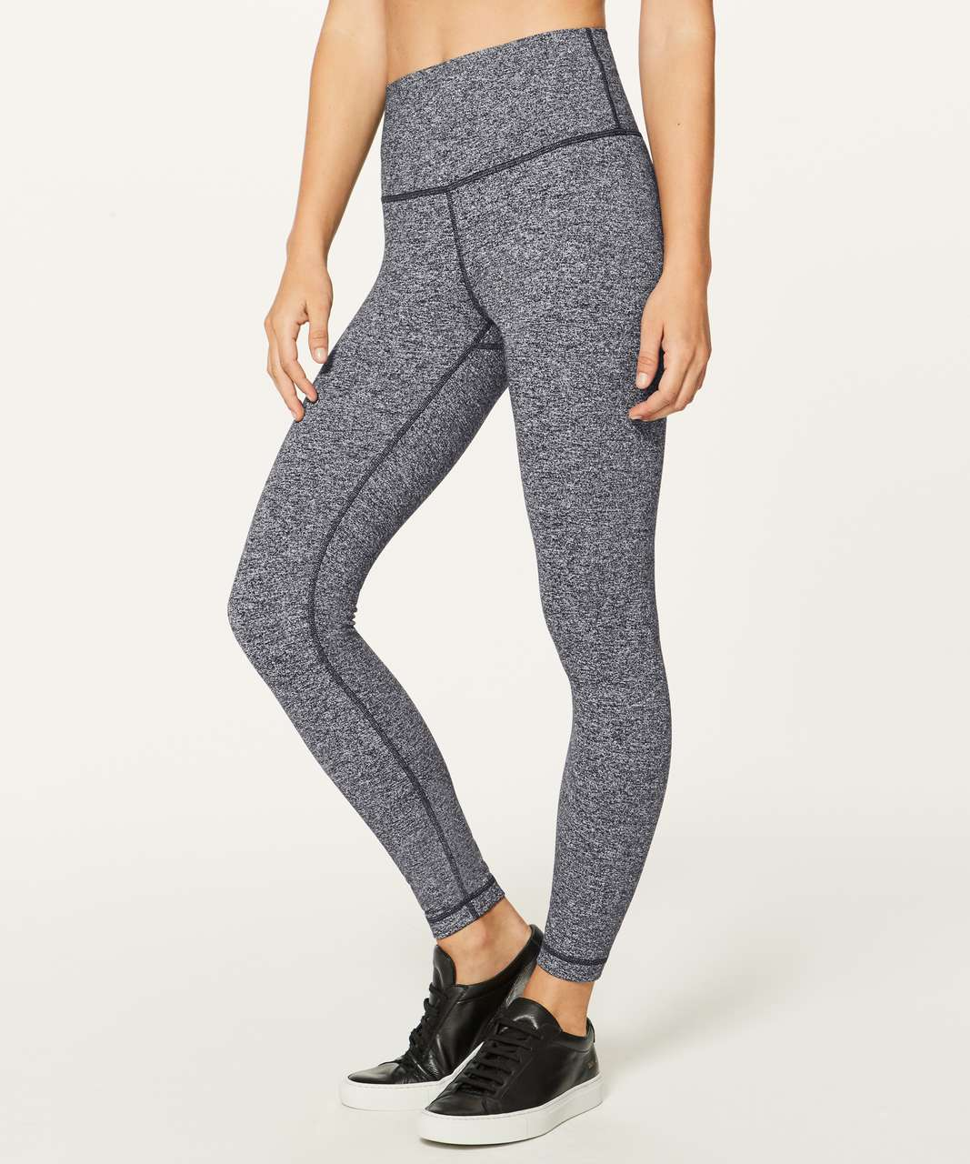 "Lululemon Wunder Under Hi-Rise 7/8 Tight *25"" - Heathered Black"