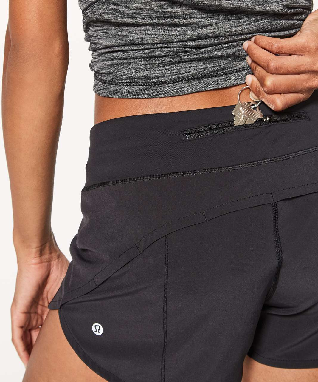 "Lululemon Speed Up Short *Long 4"" - Black (First Release)"