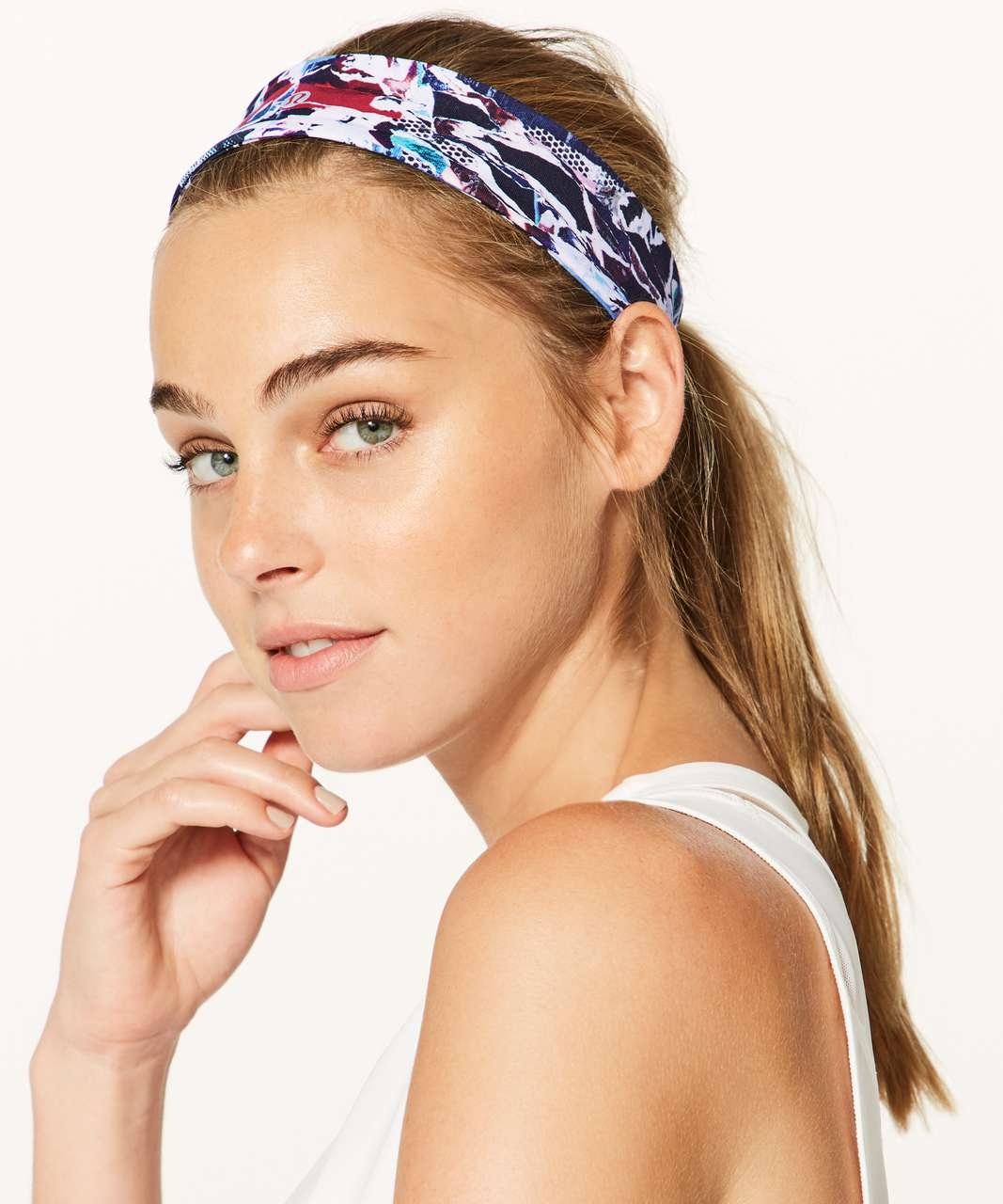 Lululemon Fly Away Tamer Headband II *Luxtreme - Culture Clash Multi Black