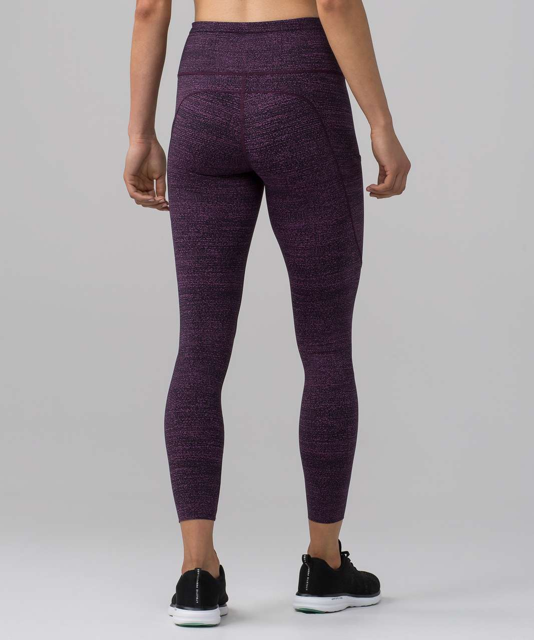 "Lululemon Fast & Free 7/8 Tight II (Nulux 25"") - Salt Dark Mystic Black"