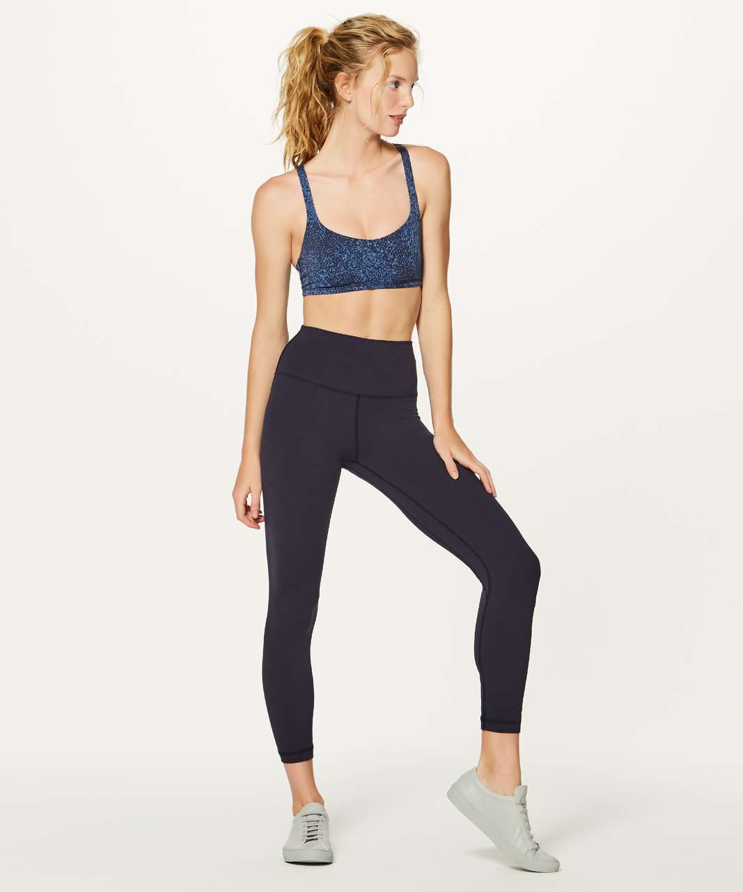 Lululemon Free To Be Bra - Power Luxtreme Mineral Deposit Lunar Eclipse Royal