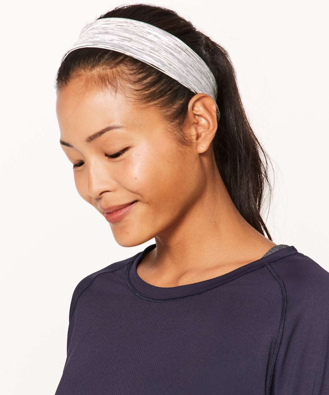 Lululemon Fly Away Tamer Headband II *Luxtreme - Wee Are From Space Ice Grey Alpine White