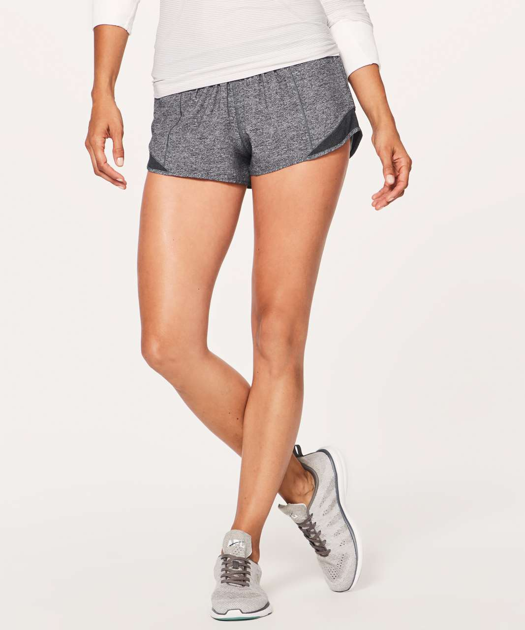"Lululemon Hotty Hot Short II *2.5"" - Heather Lux Multi Black / Heathered Black (First Release)"