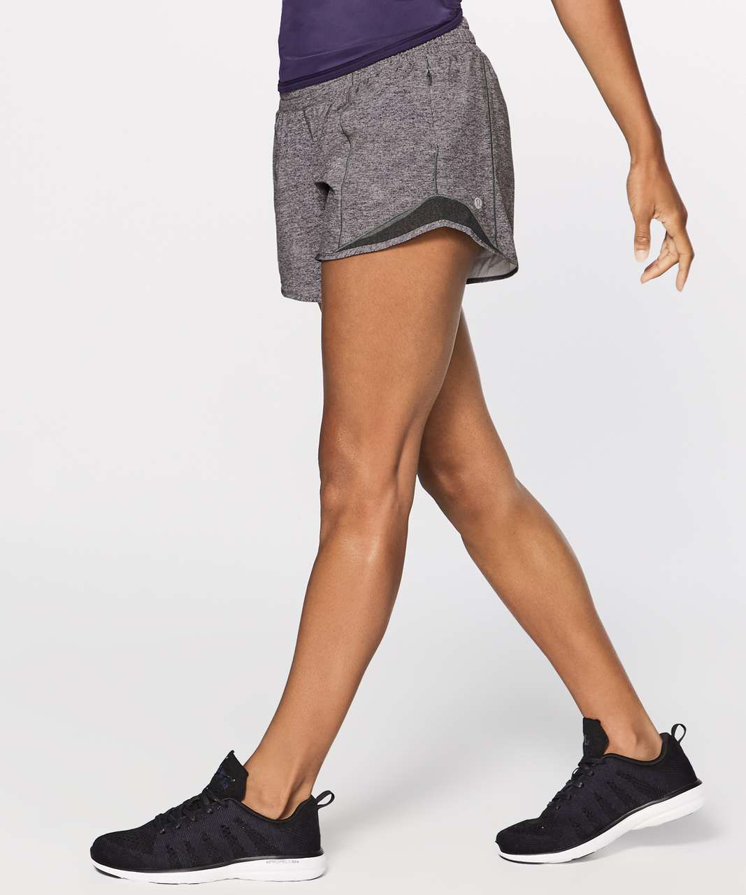"Lululemon Hotty Hot Short II *Long 4"" - Heather Lux Multi Black / Heathered Black (First Release)"
