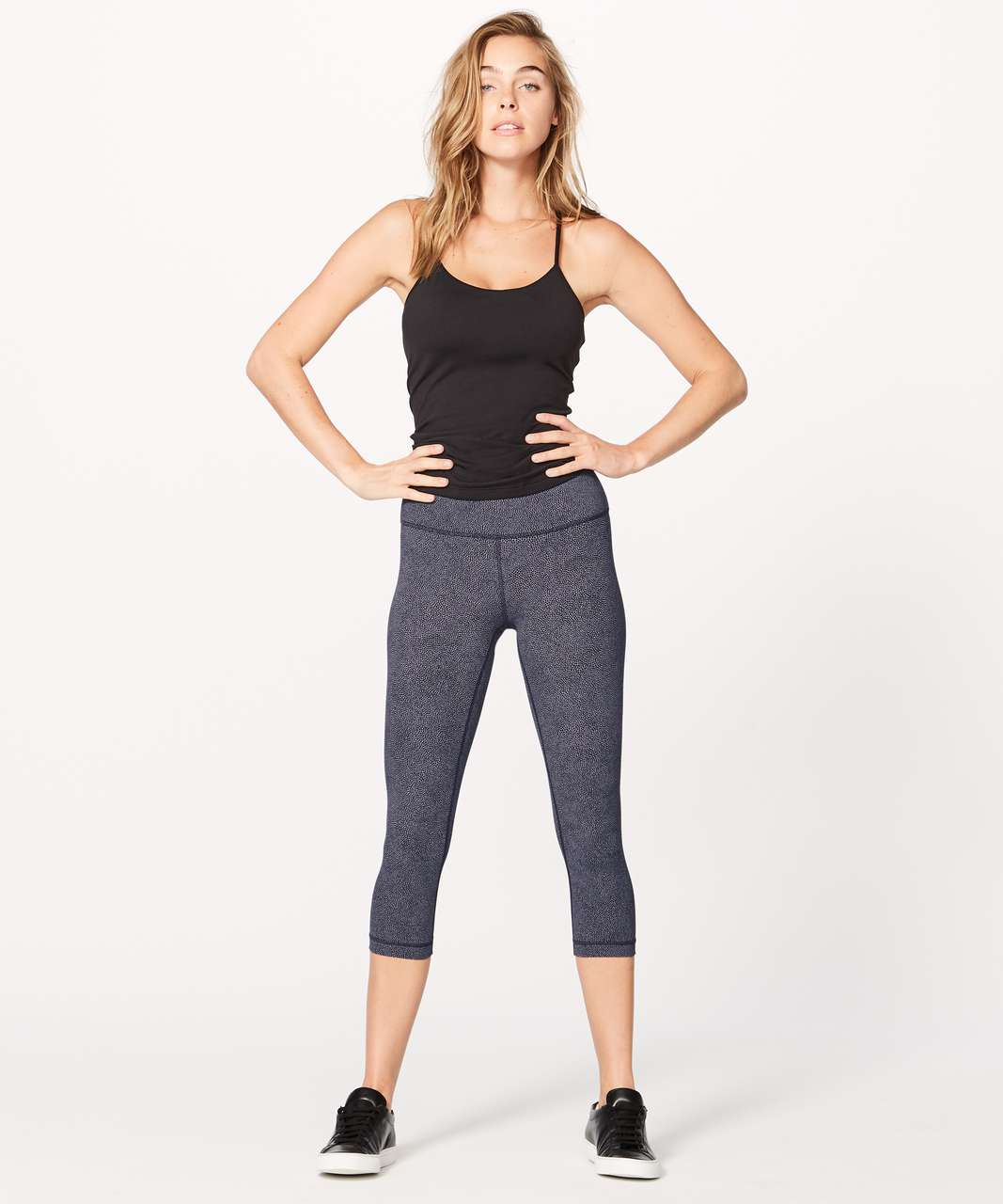 "Lululemon Wunder Under Crop (Hi-Rise) (Full-On Luxtreme 21"") - Disperse Dusky Lavender Black"