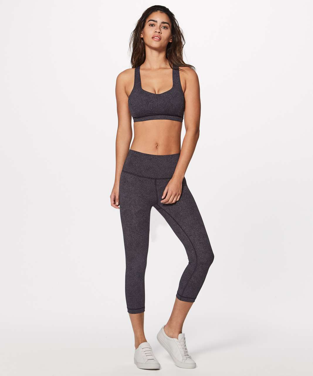 Lululemon Free To Be Serene Bra - Disperse Dusky Lavender Black