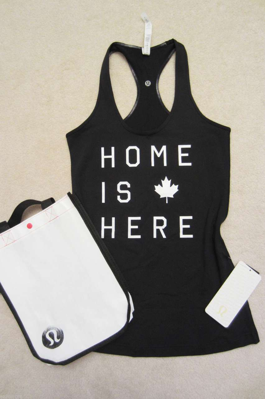 Lululemon Cool Racerback - Black (Home Is Here)