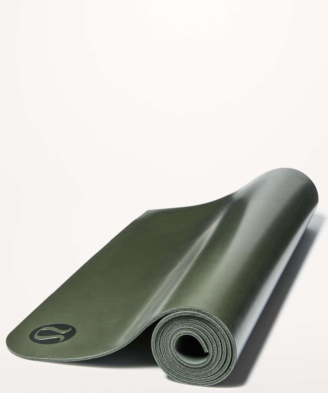 Lululemon The Reversible Mat 5mm - Dark Olive / Gator Green