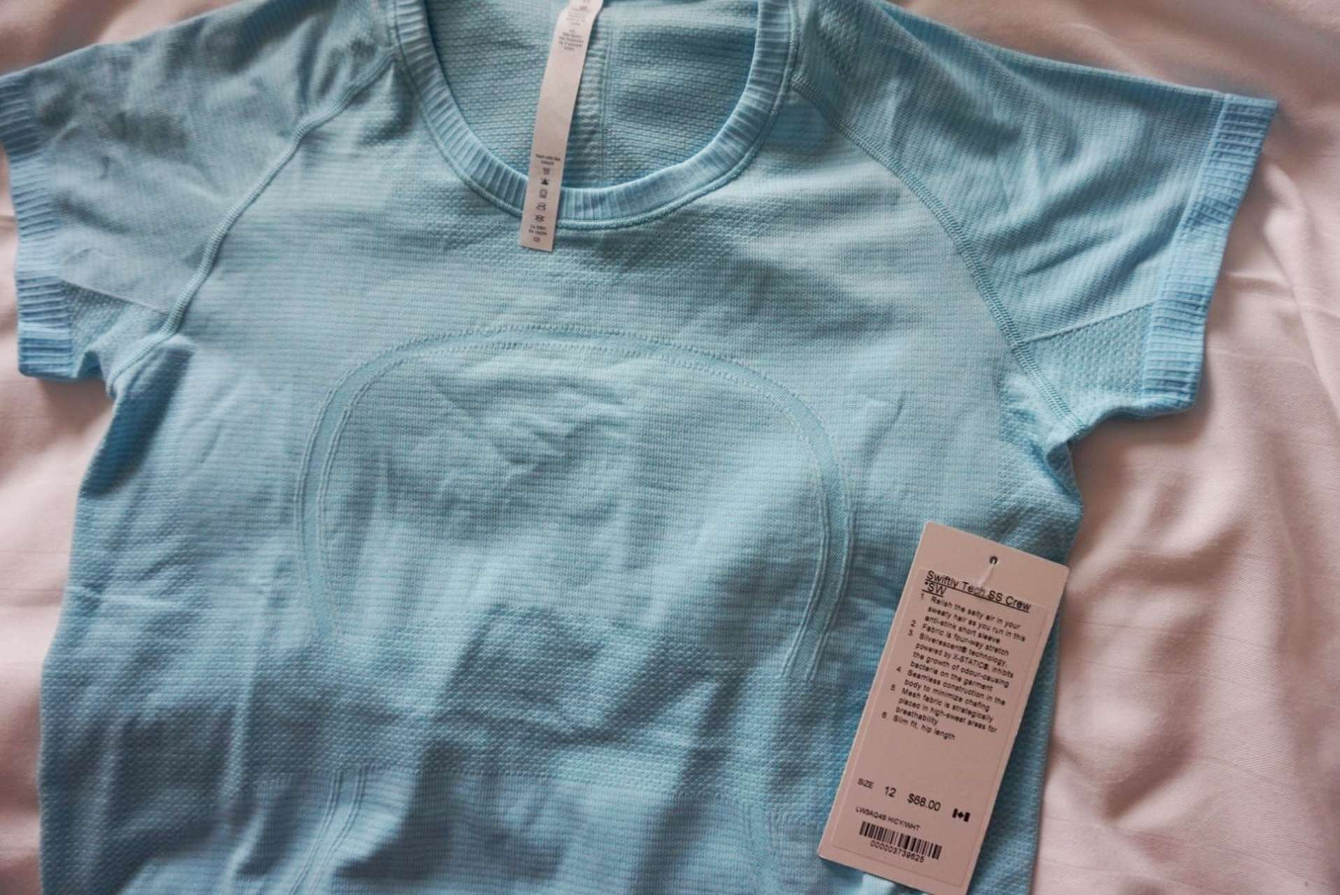 Lululemon Swiftly Tech Short Sleeve *SW - 2017 Seawheeze - Hi-Def Cyan / White