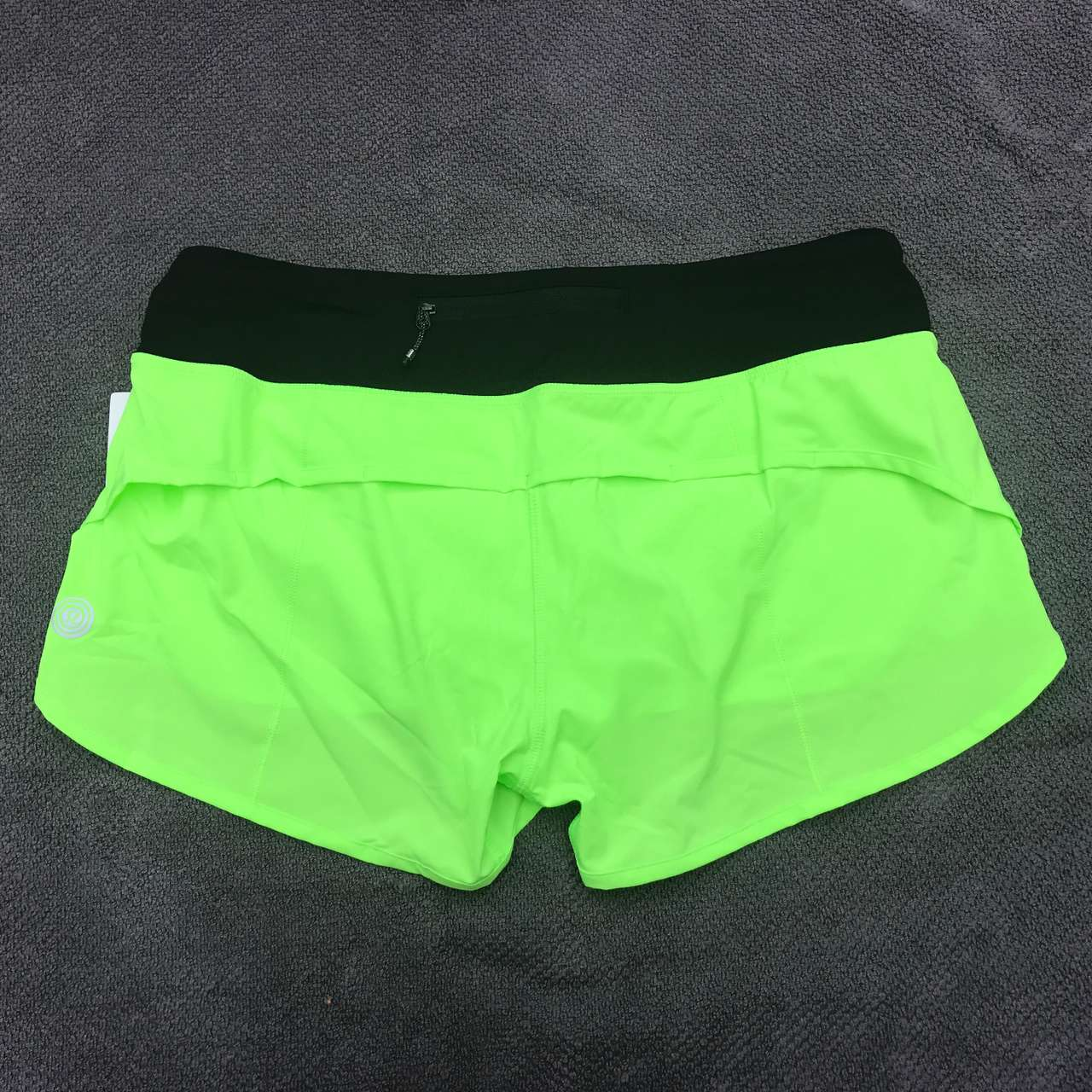 Lululemon Speed Short *SW - 2017 Seawheeze - Zippy Green / Black