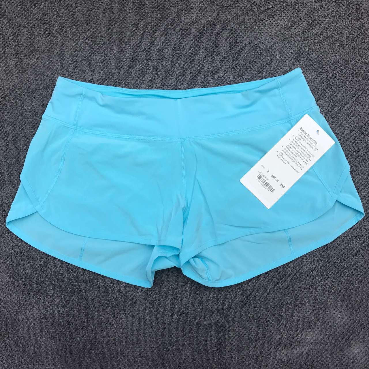 Lululemon Speed Short *SW - 2017 Seawheeze - Hi-Def Cyan