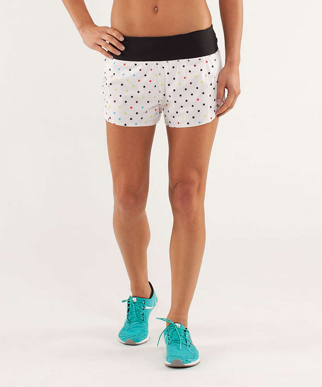 Lululemon Run: Light As Air Short - 2012 Seawheeze - Wheezy Dot Multi / Black