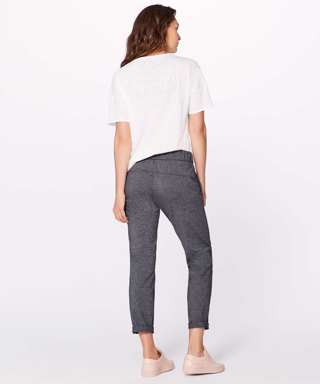 "Lululemon On The Fly Pant *28"" - Heathered Black"