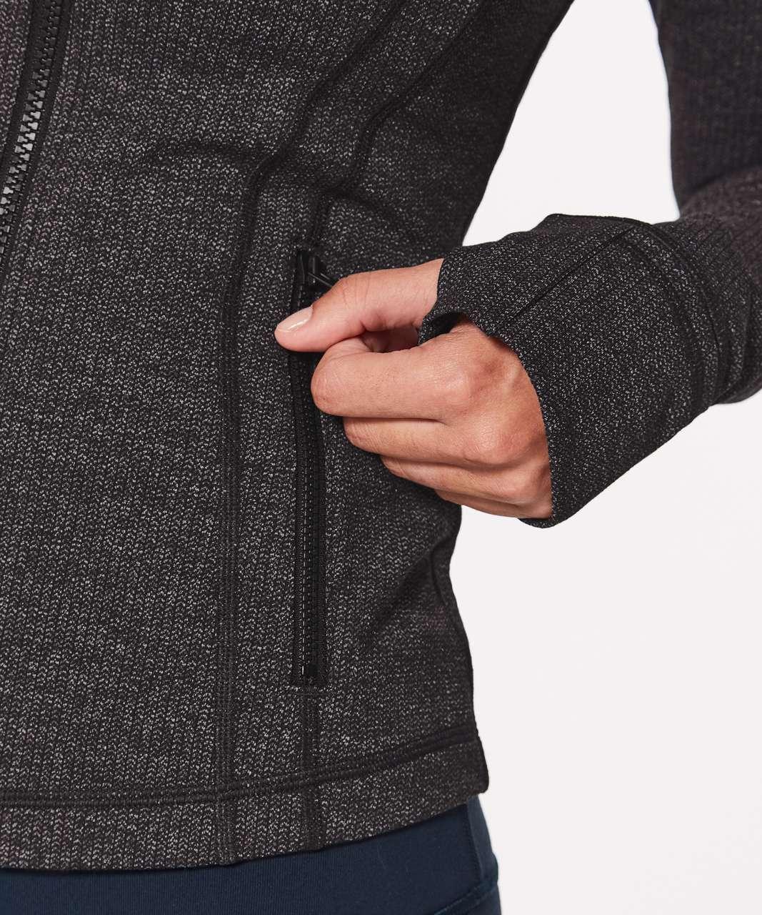 Lululemon Define Jacket - Luon Variegated Knit Black Heathered Black (First Release)